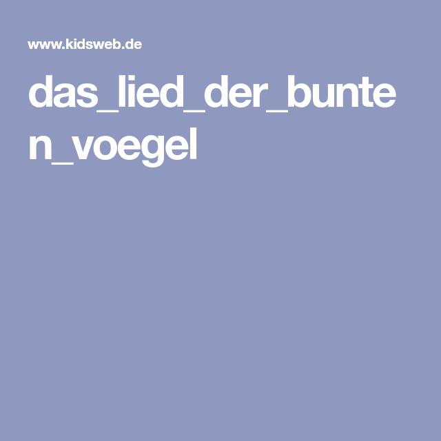 Kidsweb Weihnachtsgedichte.Das Lied Der Bunten Voegel Lied Der Vögel Geschichte Bunte Vögel