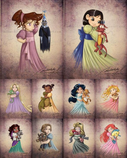 Disney Princesses (Thought you all would enjoy these! Some are repeats, but still enjoyable :) ) - Imgur