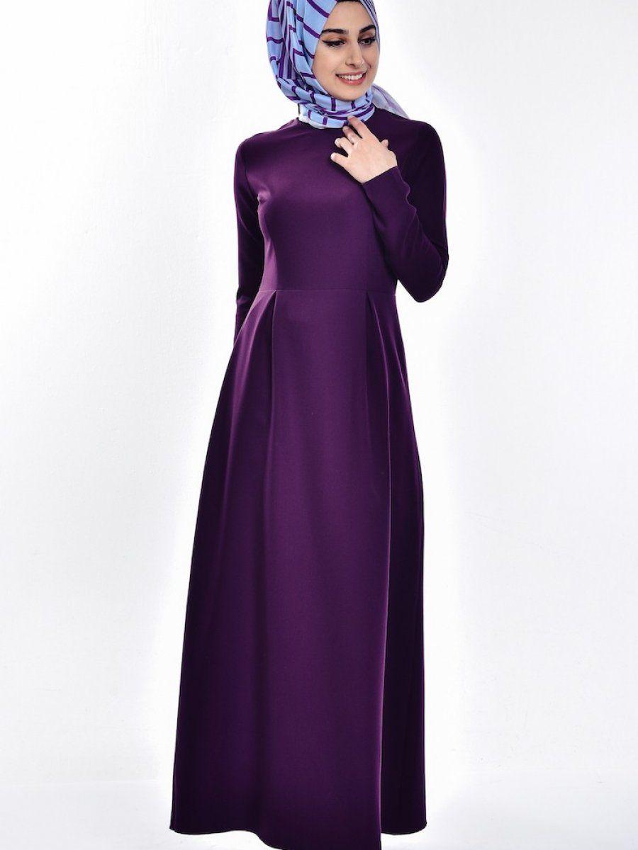 Sefamerve Tesettur Pileli Elbise Modelleri Moda Tesettur Giyim Elbise Modelleri Elbise The Dress