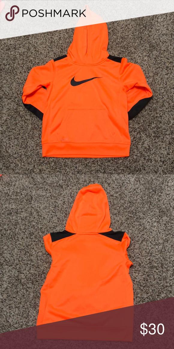 top brands good service united states Boys Nike Hoodie Boys neon orange and dark grey hoodie with ...