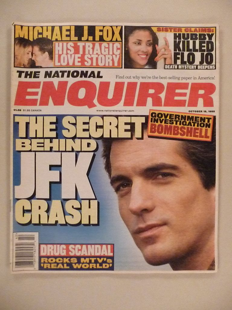 National Enquirer Oct 19 1999 John F Kennedy Jr Cover | eBay