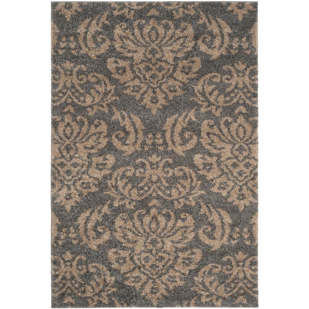 Safavieh Florida Shag Gray Beige 4 Ft X 6 Ft Area Rug Sg460 8013