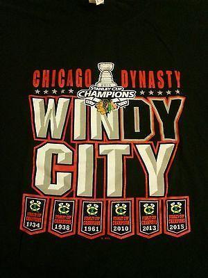 RT https://t.co/rmD7h0HO3M #Fan Chicago #Blackhawks 2015 Stanley Cup champs Dynasty mens #TShirt XL Gildan  https://t.co/xQM1m43Fh7