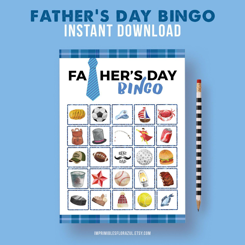 Father Day Game Printable Bingo Print at home Father