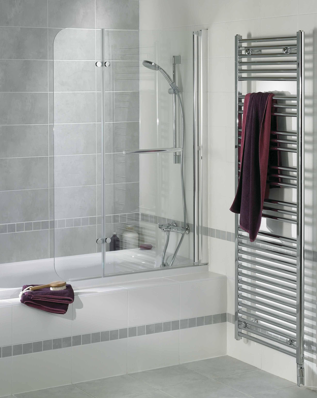 l cran de baignoire g nie est form de 2 volets pivotants. Black Bedroom Furniture Sets. Home Design Ideas