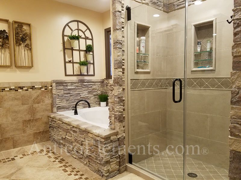 An Amazing Job Installing Faux Stone Panels In This Shower Kudos To Customer
