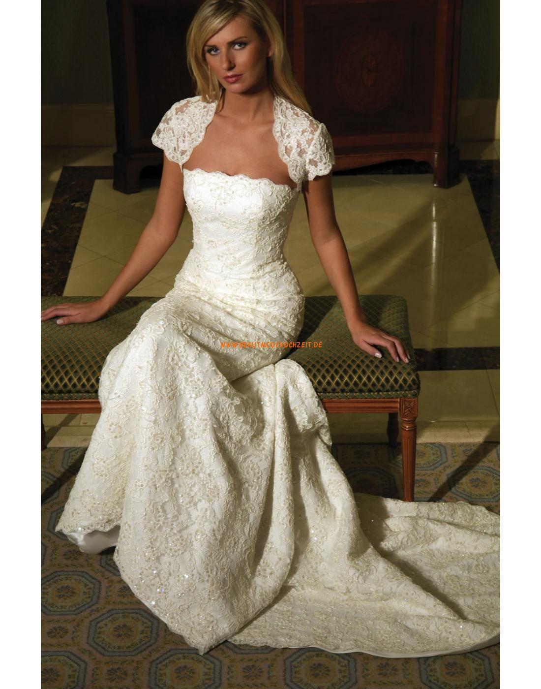 Romantische Ausgefallene Hochzeitskleider aus Spitze