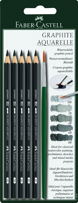 Amazon Com Faber Castell Graphite Aquarelle Water Soluble Pencils