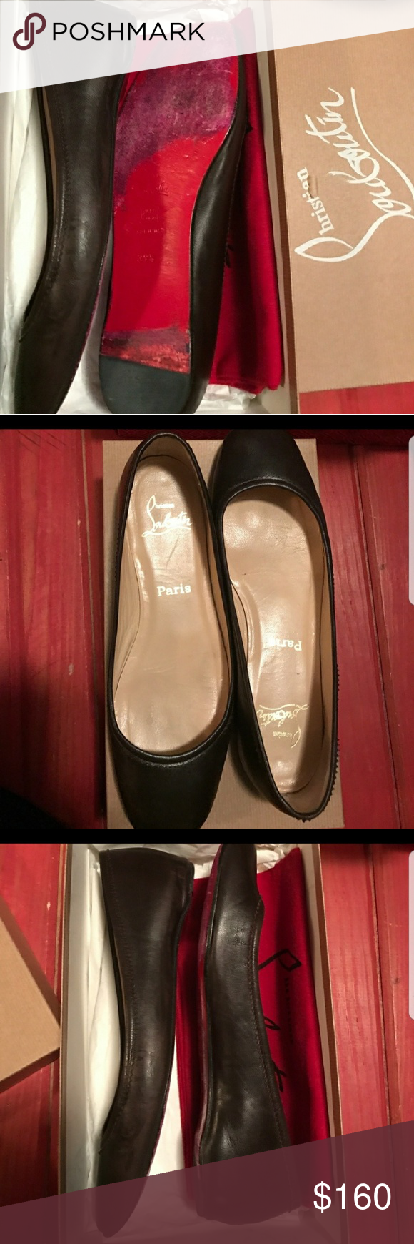 b1f3b6e9e5d9 Beautiful gently used red bottom. Cute flats Christian Louboutin Shoes  Flats   Loafers