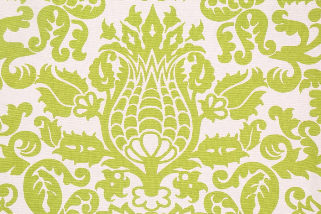 8.5 Yards Premier Prints Amsterdam Printed Cotton Drapery Fabric in Chartreuse