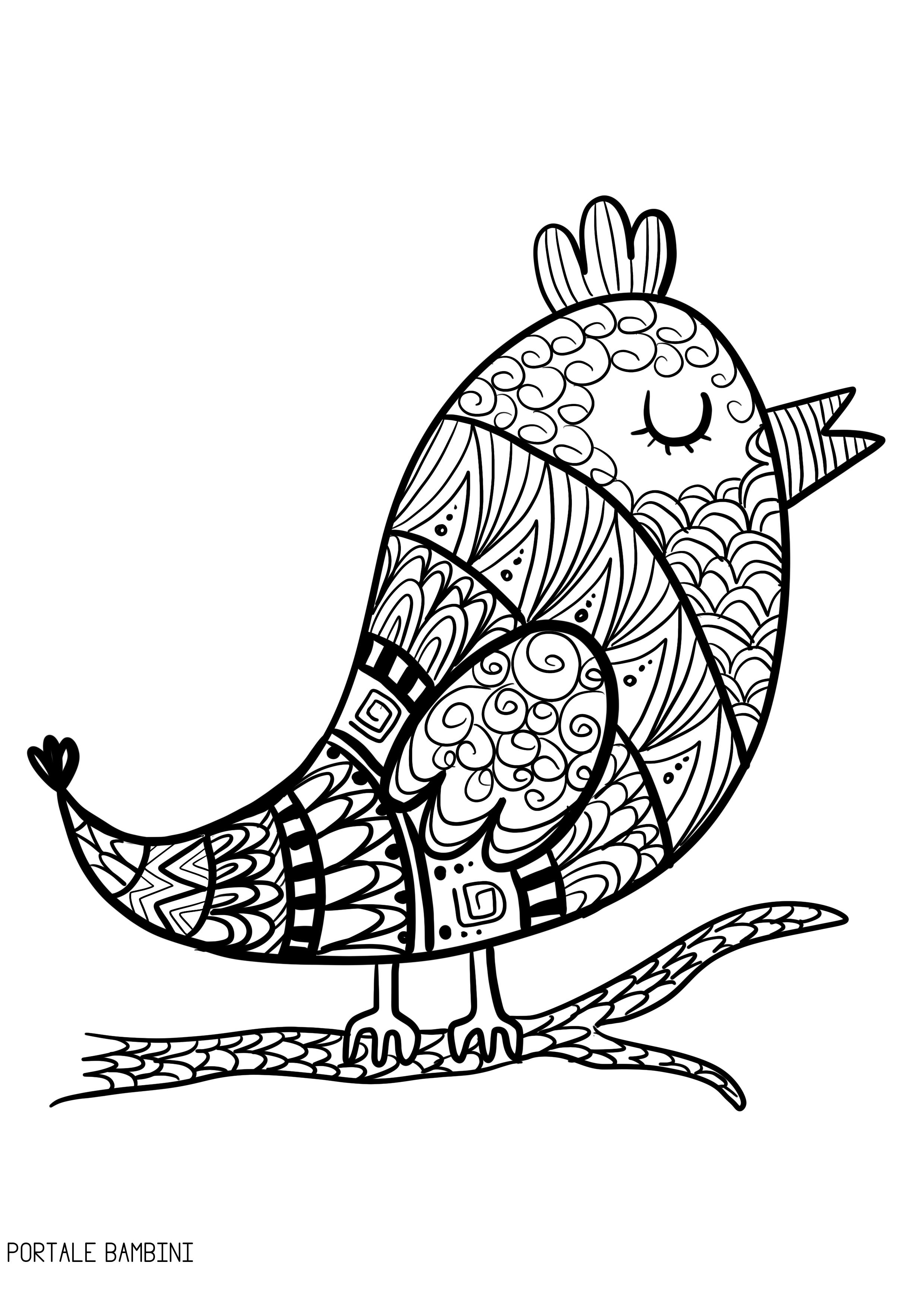Disegni Da Colorare E Stampare Degli Uccelli Coloradisegni