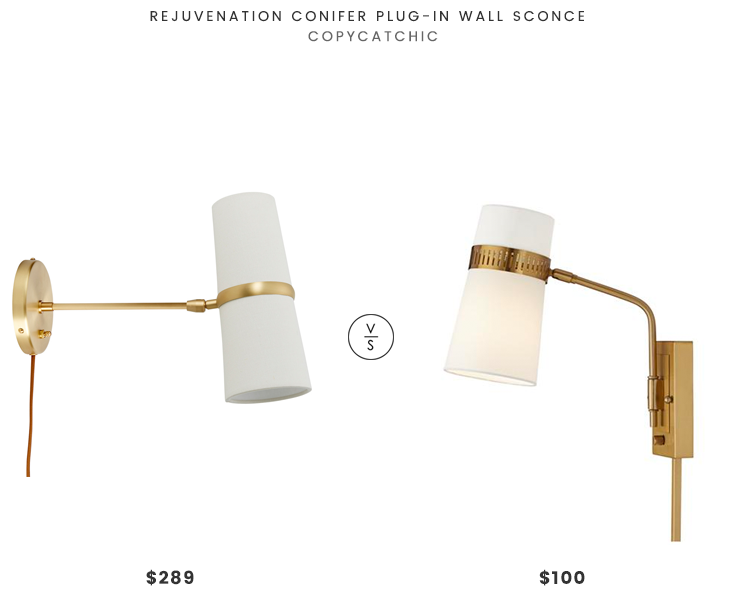 Conifer plug in wall sconce 298 vs cartwright warm antique brass plug in wall sconce 100 brass mid century wall sconce look for less copycatchic