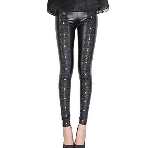 c4e8e5ee1ba Leat Women Stretch PU Leather Pants Black Warm Pants Ladies XL Pencil Pants