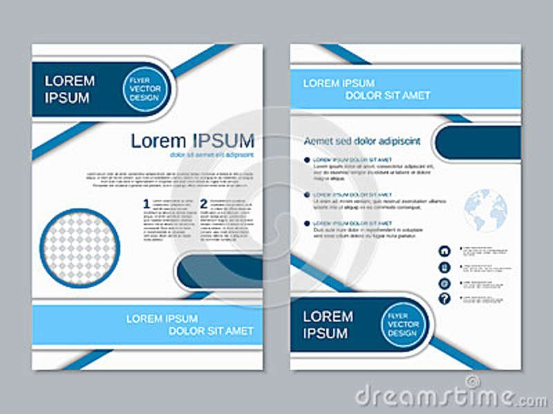 Double Sided Brochure Template In 2020