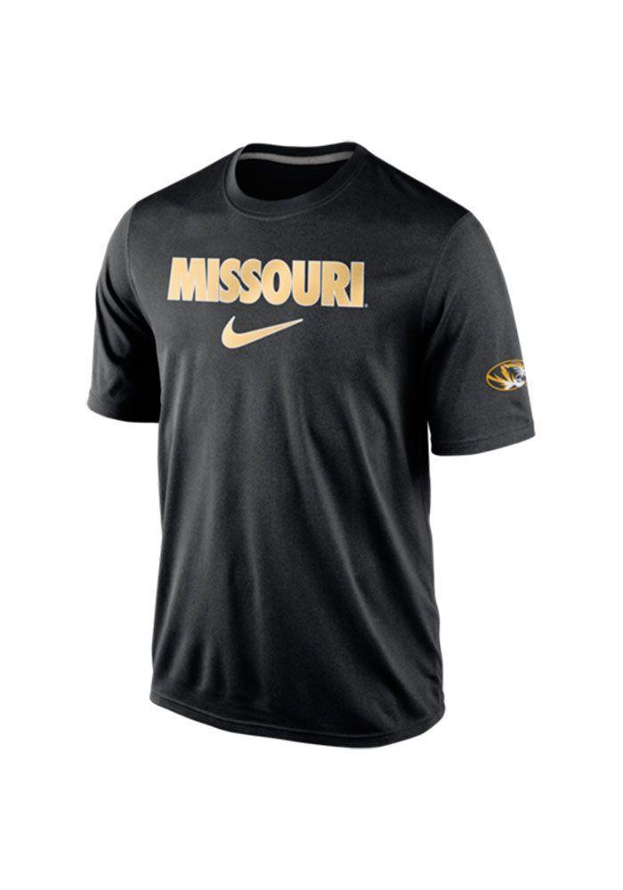 01dc52b7a6443 Nike Missouri Tigers Black March II Short Sleeve T Shirt, Black, 100%  POLYESTER, Size 2XL