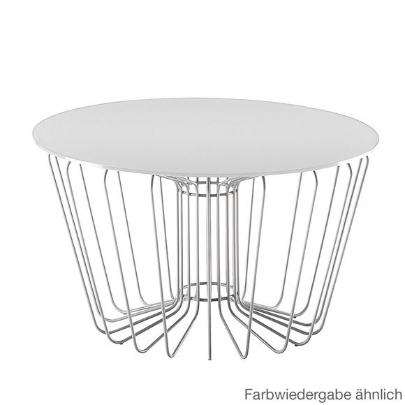 Zanotta 652 wire coffee table 700 h 400 mm white side tables zanotta 652 wire coffee table 700 h 400 mm white greentooth Gallery