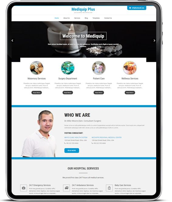 Best responsive #medical WordPress #theme