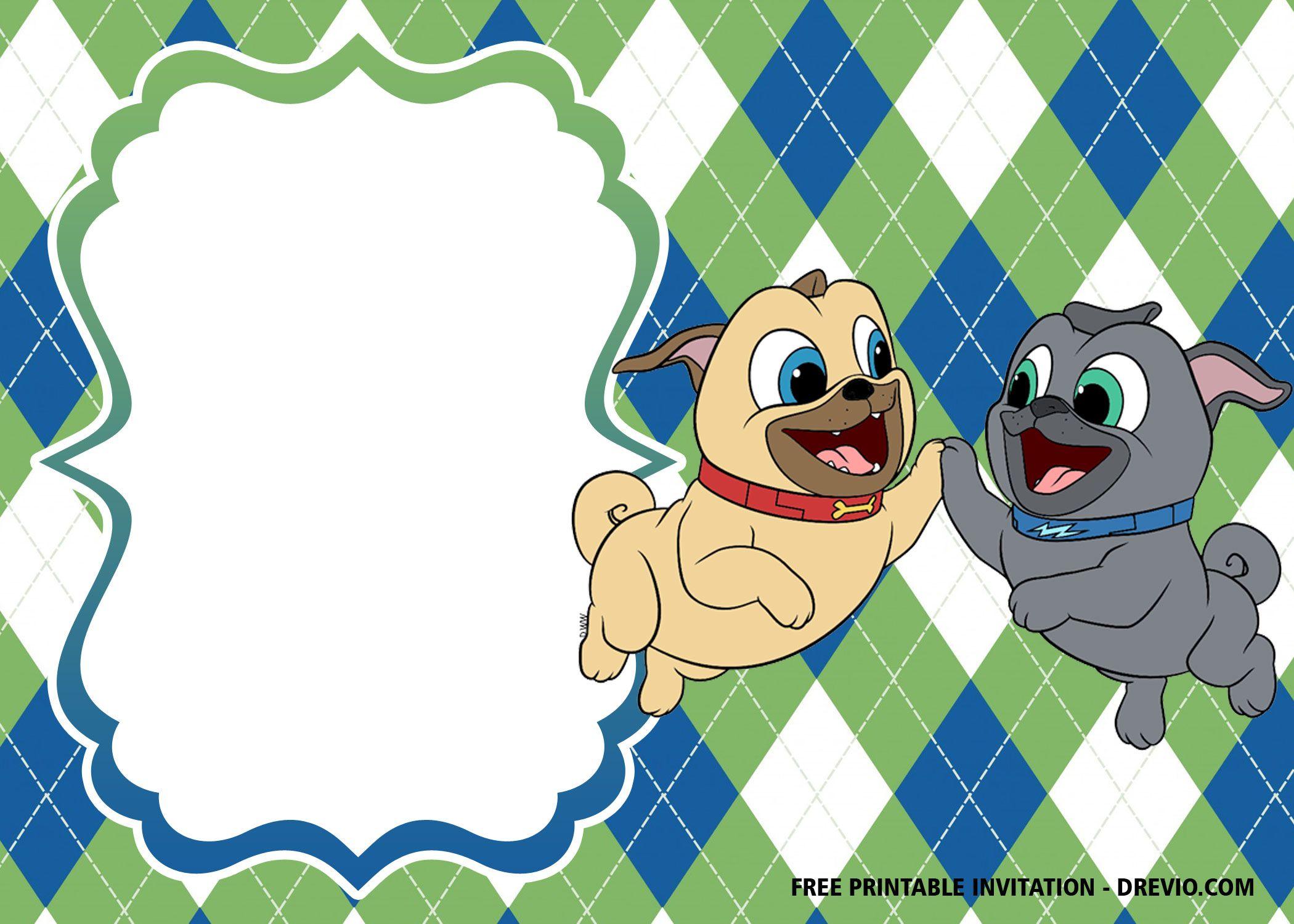 Free Disney Puppy Dog Pals Invitation Templates Free Printable Baby Shower Invitations Printable Baby Shower Invitations Free Printable Birthday Invitations
