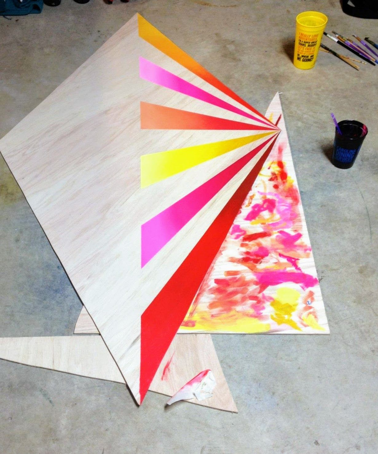 Building And Under Painting This 6ft Diamond
