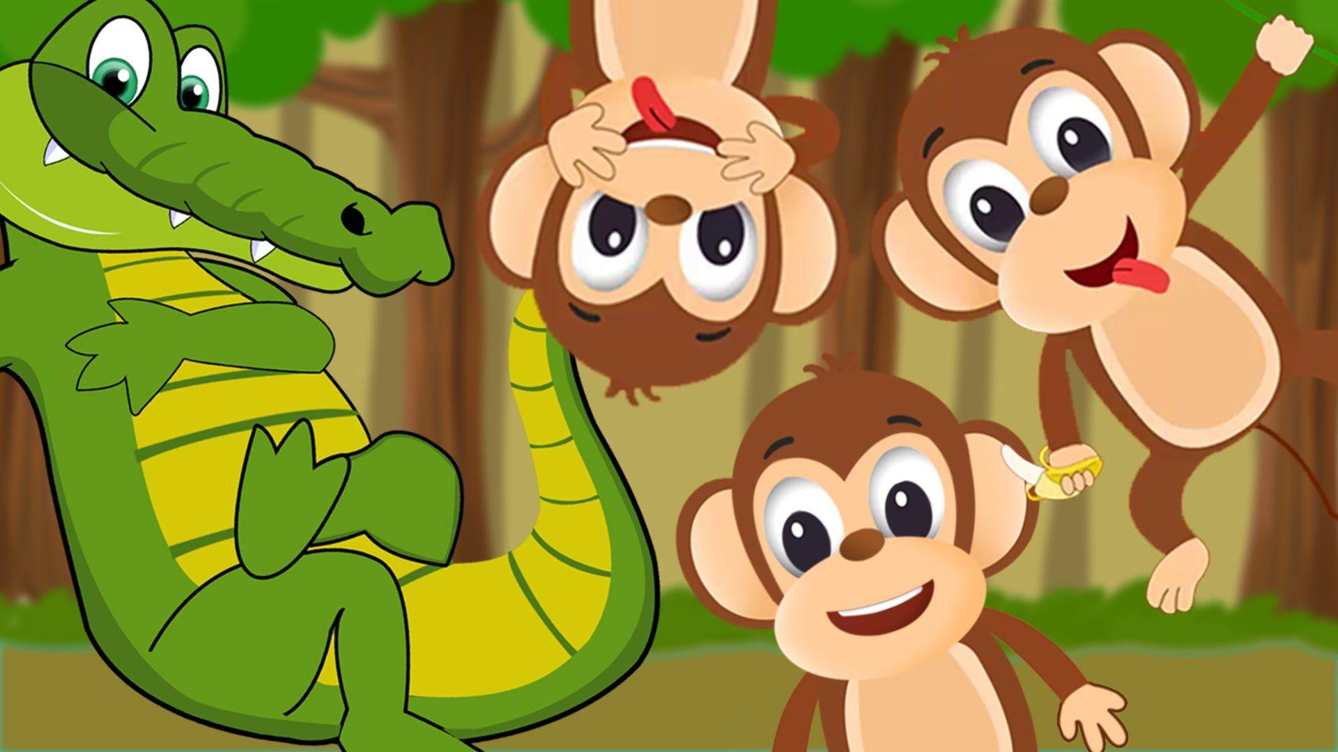 Five Little Monkeys Swinging In The Tree Five Little