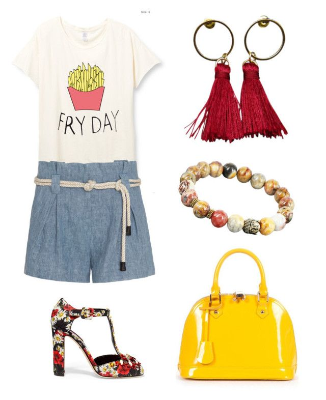 """""""Make Monday Fry Day"""" by ohbon on Polyvore featuring L'Agence, Dolce&Gabbana and Relaxfeel"""