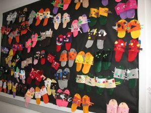 """""""I am special"""" slippers for kinder... symmetry & balance in their own shoe designs to capture their inner strengths and qualities."""