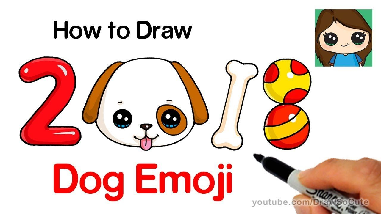 How To Draw A Dog Emoji Easy Year Of The Dog Youtube Gracie S