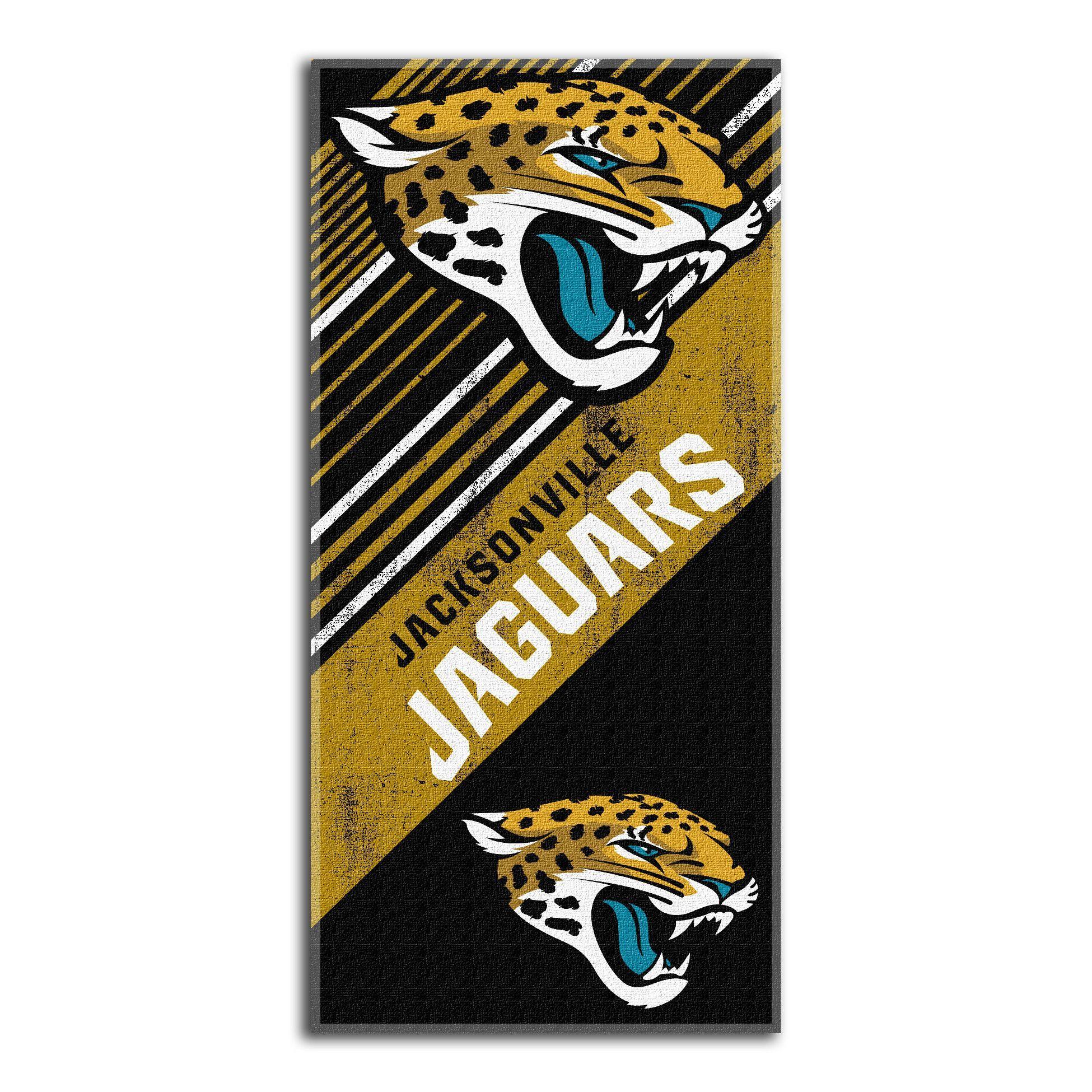 """Jaguars """"""""Diagonal"""""""" Beach Towel"""