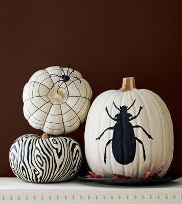 white for Halloweencute and easy spiderweb pumpkin I love Fall - halloween pumpkin painting ideas