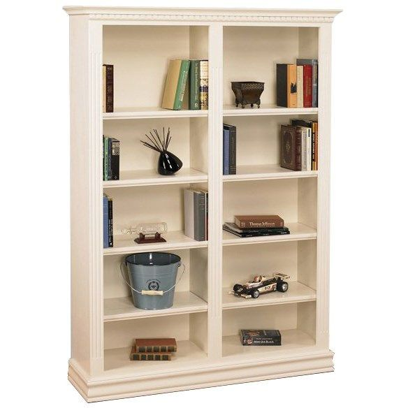 Ae Wood Design Hamp4872 Hampton 48 X 72 Double Bookcase In Pearl