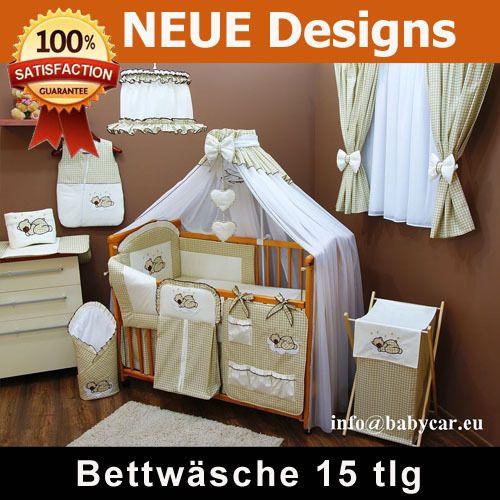 Baby Bettwasche Kinderbettwasche 90x120 15tlg Moskitonetz