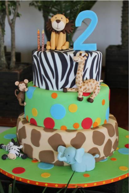 Lindo bolo Safari NIVER Bolo tema safari, Festa safari e Bolo festa infantil -> Decoração Festa Infantil Zoologico