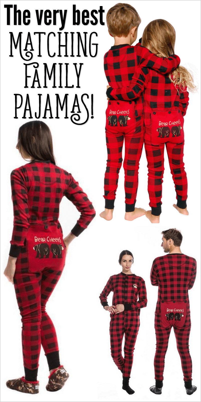 family christmas pajamas cute matching pjs funny
