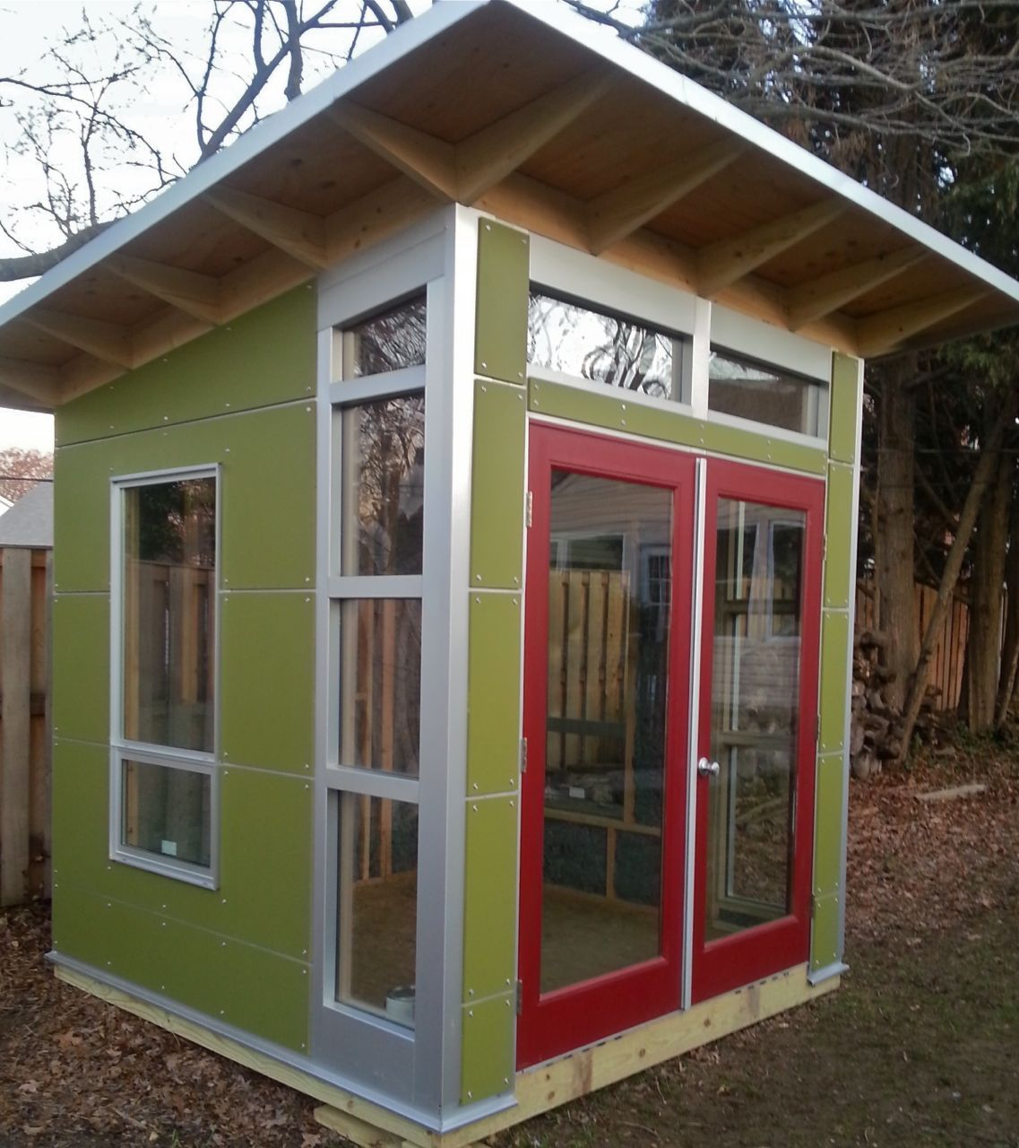 A proud little 8x8 a shell only for Build your own backyard office