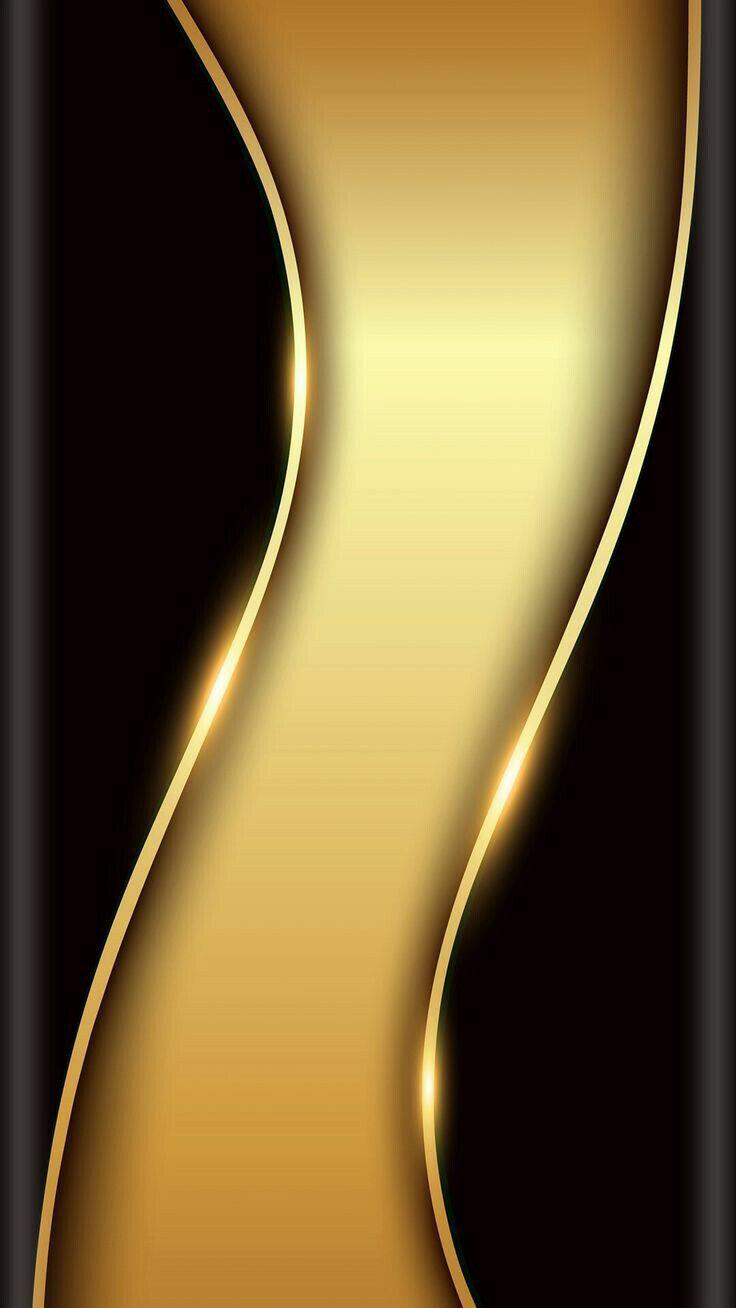 Black Gold Samsung IPhone Edge PhoneTelefon 3D Wallpaper