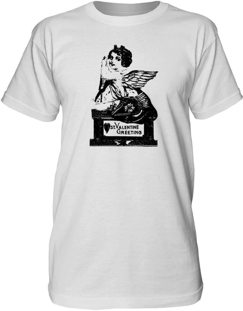 Mintage Old Valentine Postcard Mens Fine Jersey Tall T-Shirt