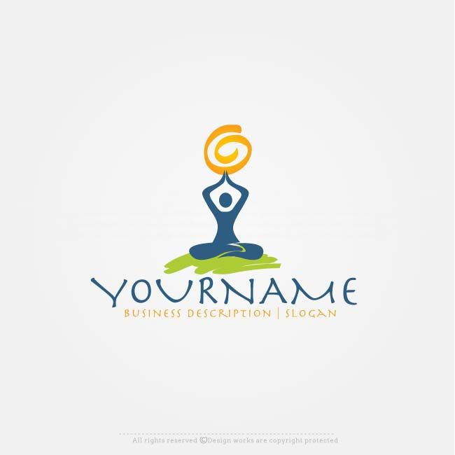 Online Free Logo Maker Yoga Logo Design Logotip