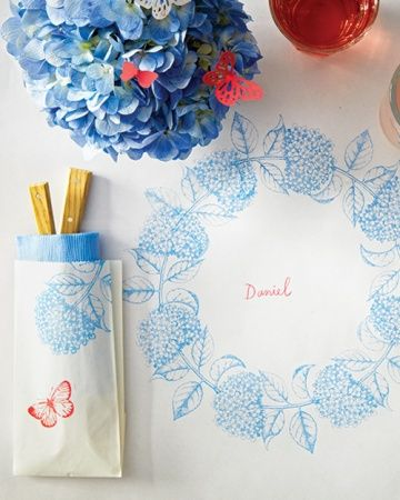 Stamped Paper Tablecloth