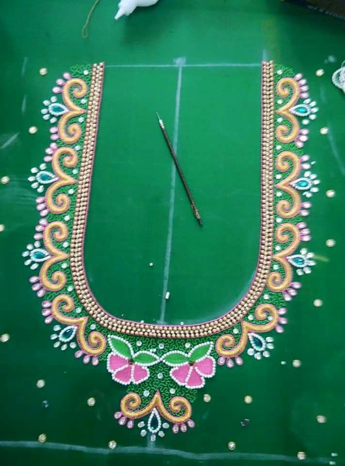 Pin by lilysha rani on heavy maggam work blouses