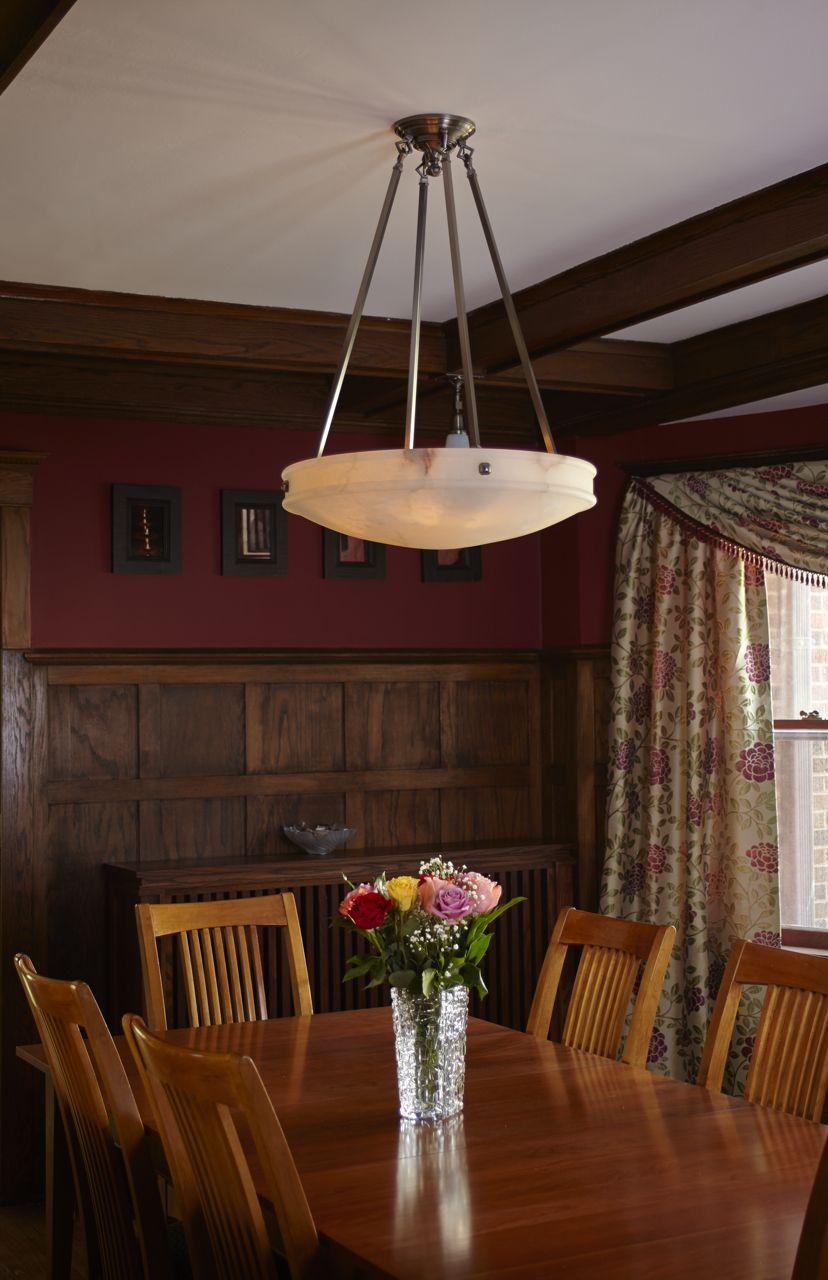 24 Diam Morris Multi Stem Alabaster Pendant Brass Lighting Wood Paneling Alabaster