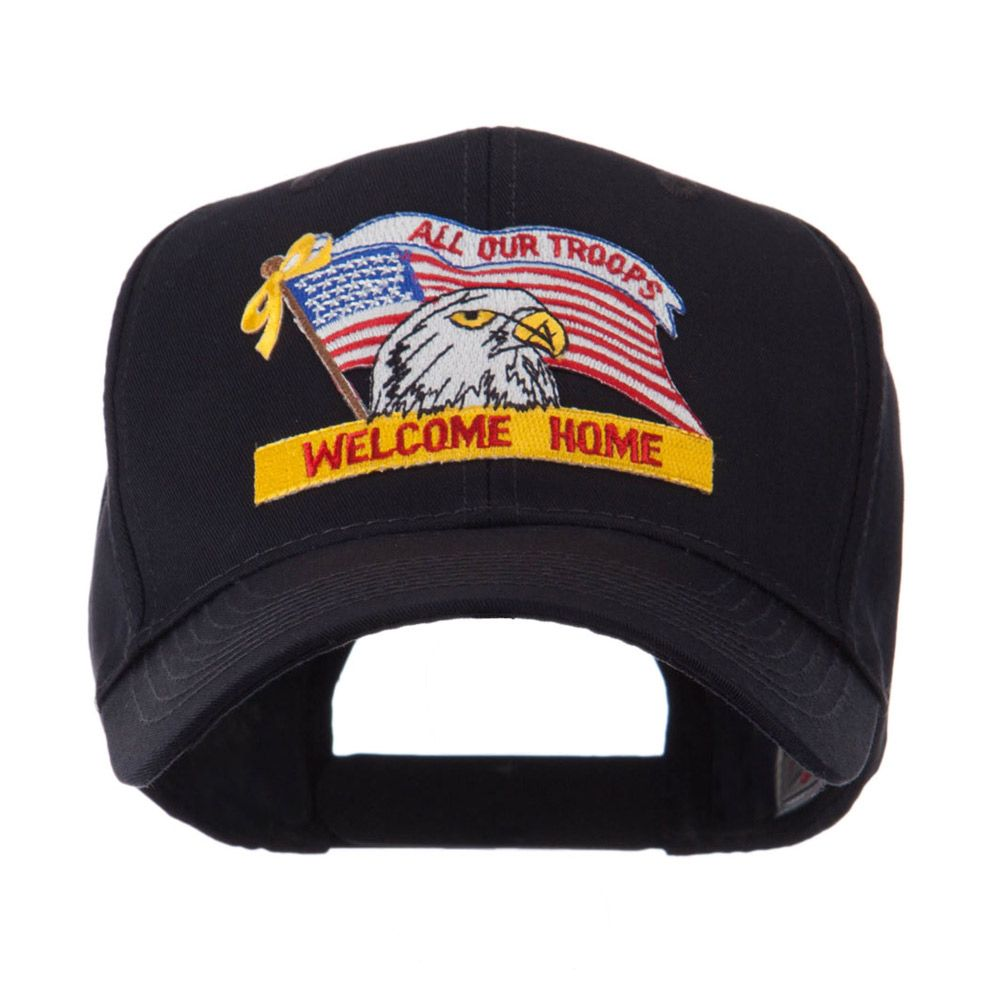 USA Flag Style Military Patch Cap - Welcome Home 2  7758cee88f9