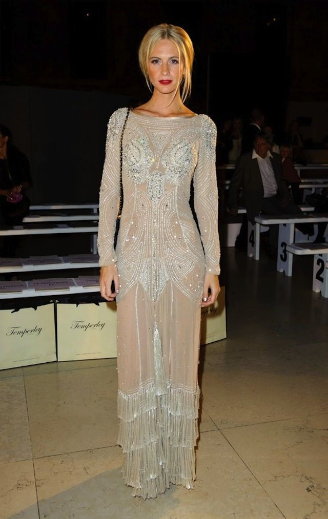 Poppy Delevigne, veryfirstto.com Luxe Forecast Connoisseur, at the Temperly Show