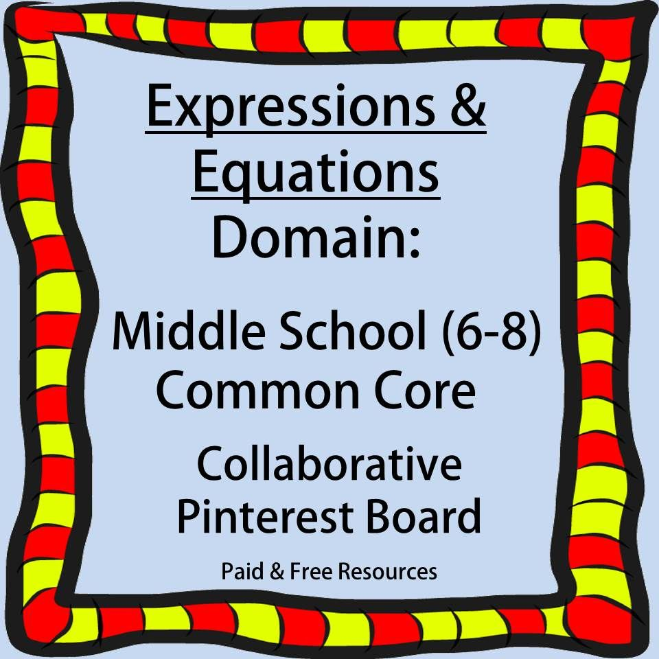 To pin to this board: gottaluvitcreations@gmail.com.  Teachers & Sellers welcome! Only post pins related to the Middle Grades (6-8) Common Core Exp…