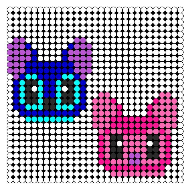 lilo & stitch perler bead patterns   Disney Stitch And Angel perler bead pattern