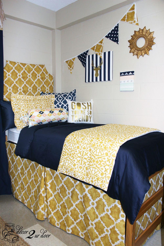 Trendy Tribal Gold Peach Navy Mint Designer Bed In A Bag Set Dorm Room Bedding Dorm Bedding Sets Ole Miss Dorm Rooms