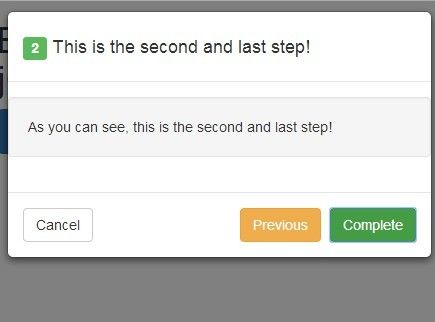 Create Step By Step Modal with jQuery and Bootstrap | jQuery Plugins