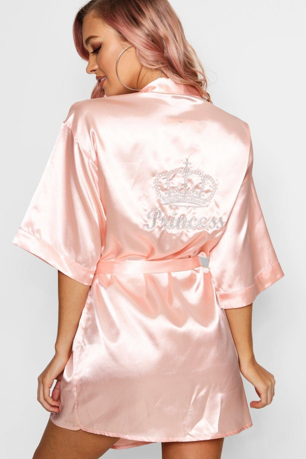 a35496767c98 Click here to find out about the Ellie Princess Crown Embroidered Robe from  Boohoo, part of our latest Nightwear & Onesies collection ready to shop  online ...