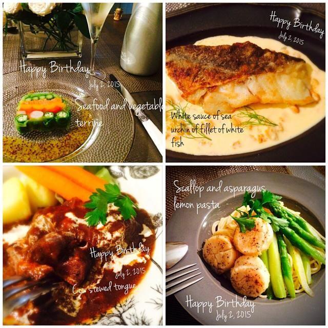 旦那さまお誕生日ディナー ディナー 料理 レシピ レシピ