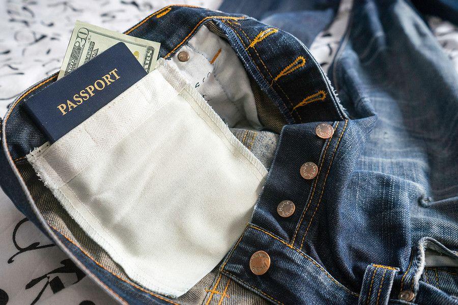 Make a secret pocket in your pants backpacking tips hide money travel money travel for Travel gear hidden pocket