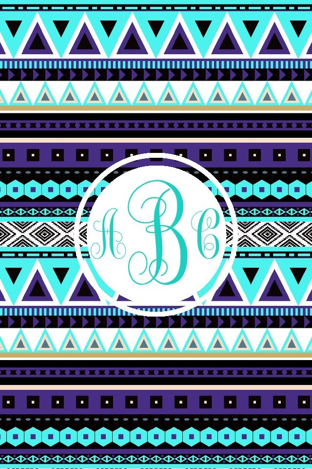 monogram app tribal iphone/ipad wallpaper Monogram
